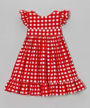 فستان كروهات احمر