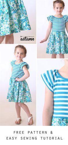 فستان لبني اللون جميل