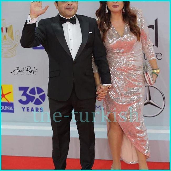 محمد هنيدي وزوجته